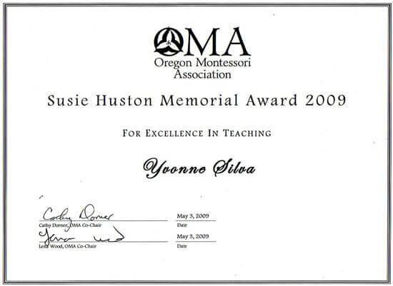 Susie Huston Memorial Award